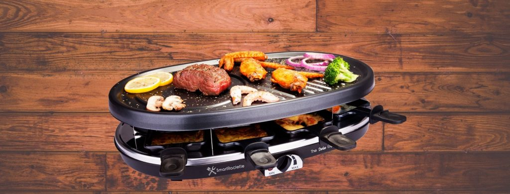 Raclette, A grill pan