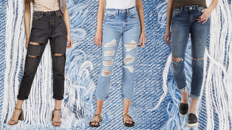 What is called ripped jeans, and when did they start?